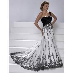 black and white bridesmaid dresses white wedding dress black lace overlay wedding dresses