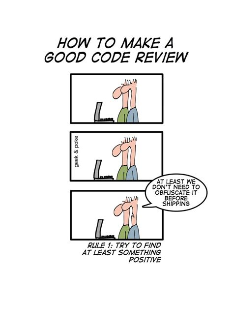 How To Make A Good Code Review — Geek&poke