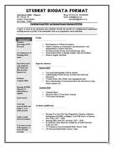 simple resume format for students pdf to jpg biodata format for job application download sle biodata form