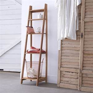 Etagere En Bois Salle De Bain : etagre salle de bain en teck brut pas cher sur tikamoon ~ Dailycaller-alerts.com Idées de Décoration