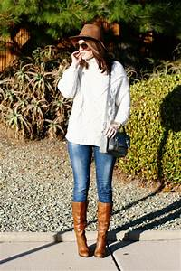Blue Zara Jeans Light Brown Steve Madden Boots Off White Zara Sweaters | u0026quot;december chillsu0026quot; by ...