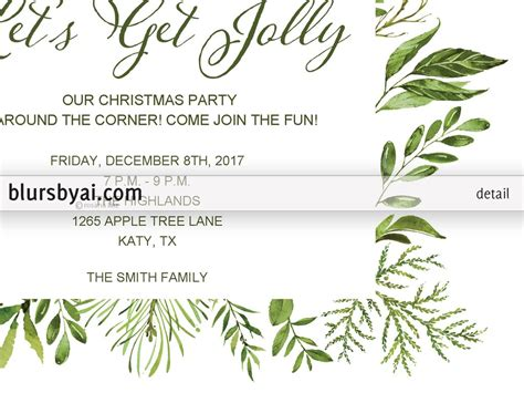 EditableChristmas party invitation template