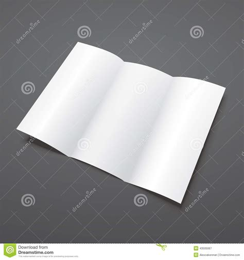 tri fold phlet template trifold white template paper vector illustration vector illustration cartoondealer 83412924