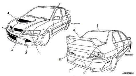 car maintenance manuals 2003 mitsubishi lancer evolution user handbook mitsubishi lancer evolution 2003 workshop service repair manual