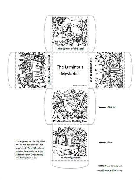 luminous mysteries learning cube  resource site