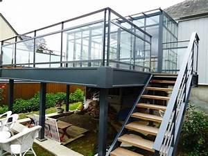 Terrasse Metallique Suspendue : soci t carlo saint malo terrasse et structure terrasse exterior stairs balcony railing ~ Dallasstarsshop.com Idées de Décoration
