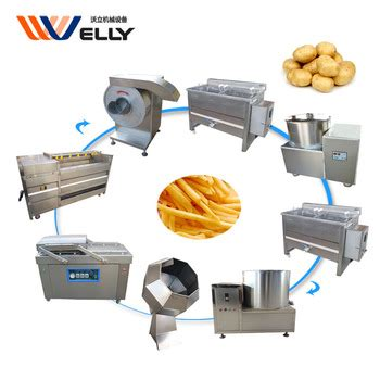 high output fried potato chips plantain chips sealing machine seasoning powder  french