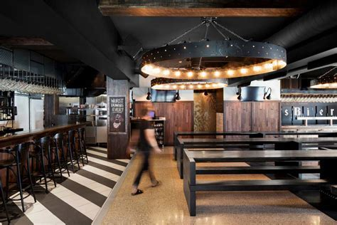Industrial bar and restaurant design in Montreal, Canada