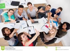 classmates pen students doing study stock photo image