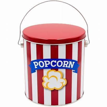 Popcorn Tin Ribbon Tins Gallon 8s Kettle