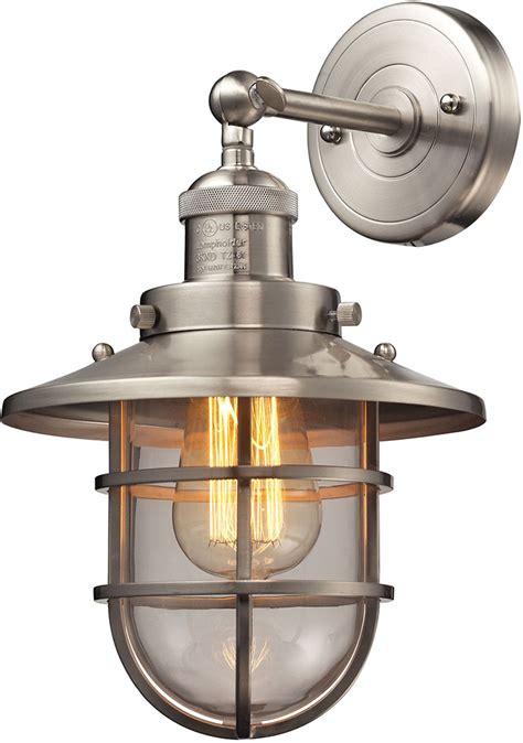 Elk 663561 Seaport Nautical Satin Nickel Lighting Sconce