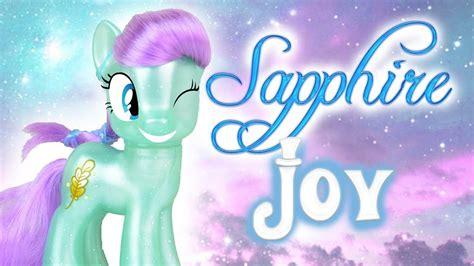 mlp pony rare joy sapphire ponies toy super