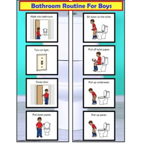 free bathroom visual schedule for boys 851 | CCC%20Bathroom%20Routine%20For%20Boys Page 1 300x300