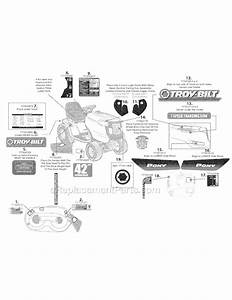 Troy-bilt 13an77kg011  Pony  Parts List And Diagram