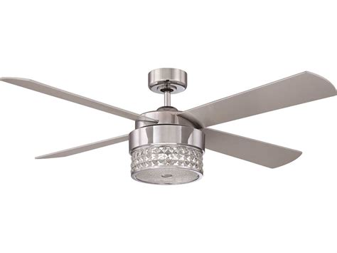 silver ceiling fan with light kendal lighting celestra chrome optic with