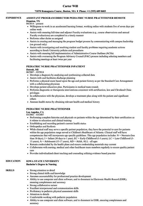 Pediatric Resume by Pediatric Practitioner Resume Bijeefopijburg Nl