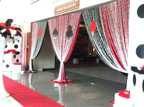casino night prom party decor csterling  group