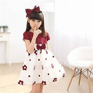 New Brand Baby Girls Dress 2017 Summer Korean Fashion Knee ...