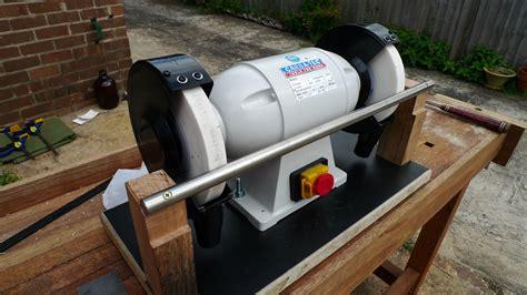 woodwork built bench grinder tool rest plans  plans