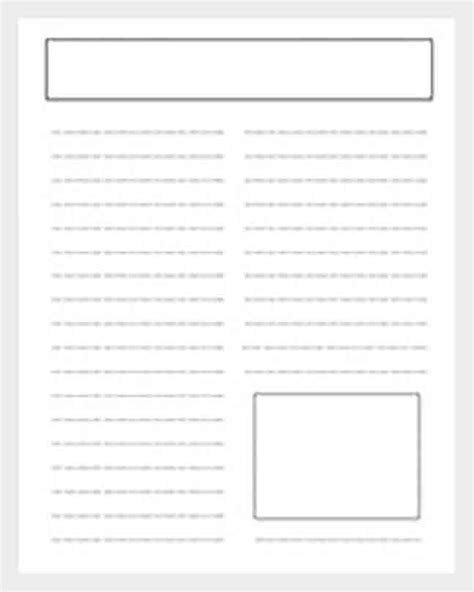 newspaper article template      depending   intended kinds