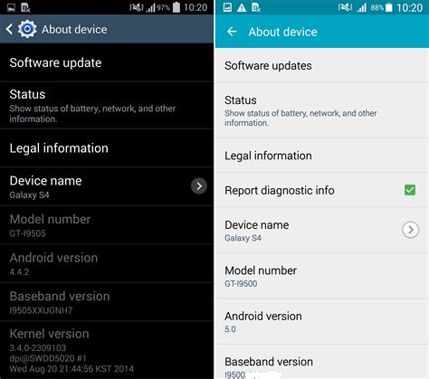 galaxy s4 android 5 0 android 5 0 lollipop vs android 4 4 2 kitkat su galaxy s4