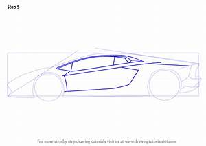 Step by Step How to Draw Lamborghini Centenario Side View ...
