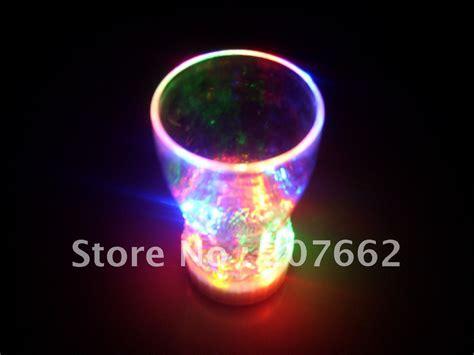 Free Shipping 2pcs/lot 165ml/5.8oz Led Auto Light Up Drink