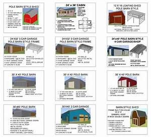 16x24 barn plans omahdesignsnet With common pole barn sizes
