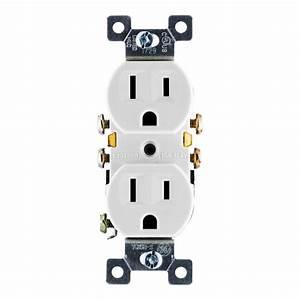 Eaton 15 Amp Tamper Resistant Recessed Duplex Receptacle