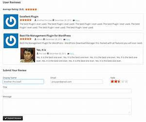 enable user rating annd review option for your file With document download plugin