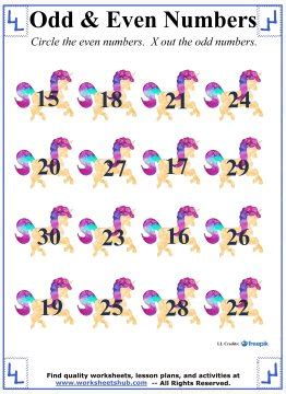 odd   numbers st grade math worksheets