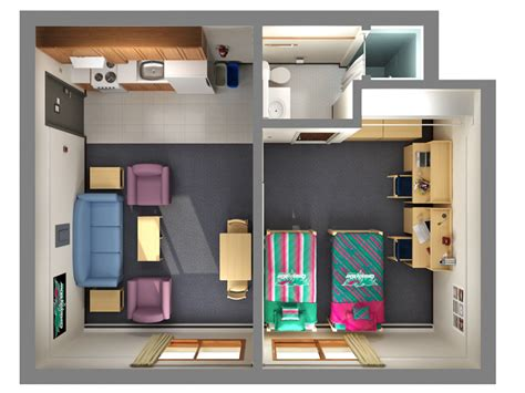 floor plans office  residence life university