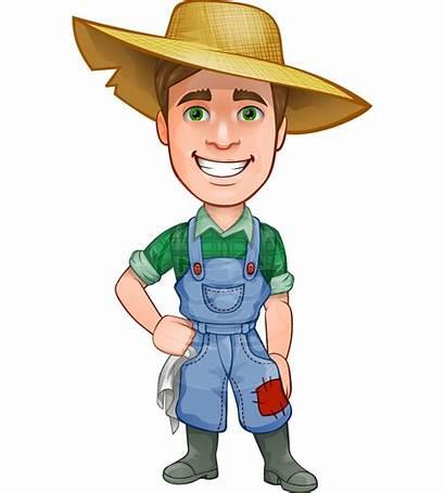 Farmer Cartoon Character Vector Drawing Characters Illustrated