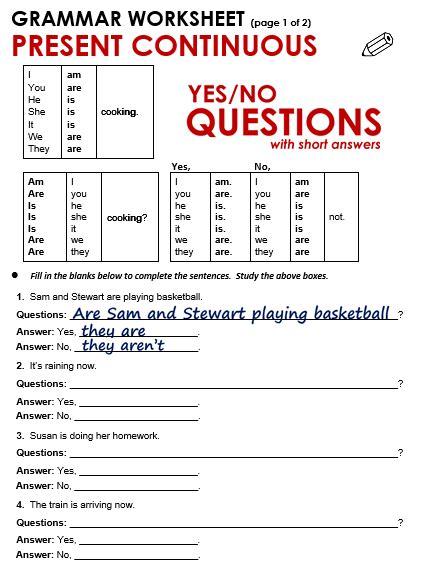Present Progressive Questions Worksheets Pdf  179 Free Present Simple Vs Continuous