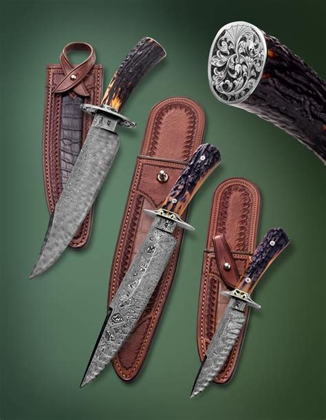 knives jerry knife fisk nlt bowie grouping sold example blade damascus album