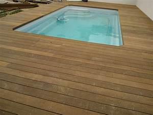 terrasse en bois parquet plage de piscine marseille With parquet pour piscine