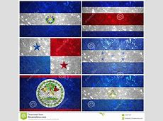 Central America Flags Stock Illustration Image 43907467