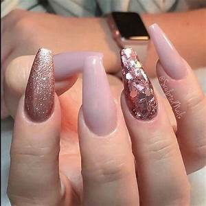 55 Acrylic Coffin Nail Designs For Fall and Winter Awimina ...