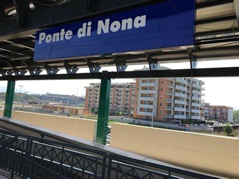 aperta  ponte  nona la nuova stazione ferroviaria