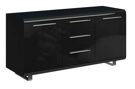 High Gloss Sideboard Black by Black High Gloss Sideboard With 2 Doors 3 Drawers