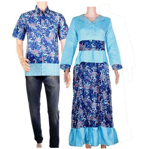 batik pasangan baju batik sepasang sarimbit gamis milka 3 warna elevenia