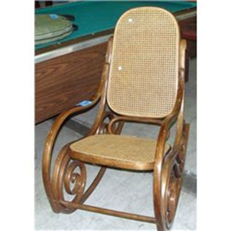 wicker rattan bent wood rocking chair