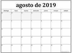 agosto de 2019 calendario gratis Calendario de