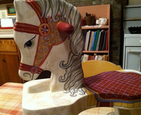 diy   paint  rocking horse wooden  wood carving