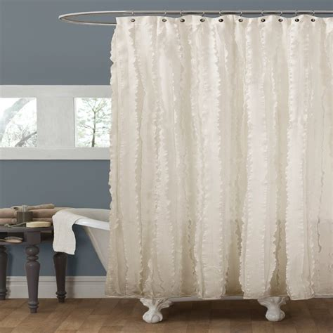 lush decor modern chic shower curtain ivory