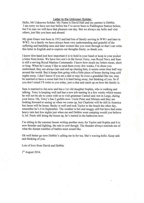 letters to soldiers featured letter to an unknown soldier 79990