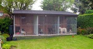 Dog kennels dog runs for Dog run outdoor kennel house