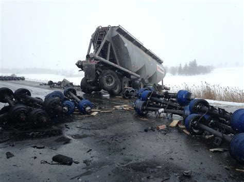 401 Truck Crash Near Woodstock  Ctv London News