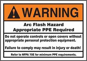 arc flash hazard ansi warning safety label lelc384 With arc flash decals