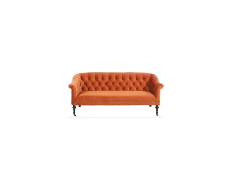 canape capitonne velours canapé capitonné orange fauteuil chic pieds noirs